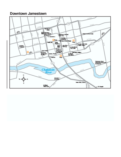 Downtown Jamestown Map
