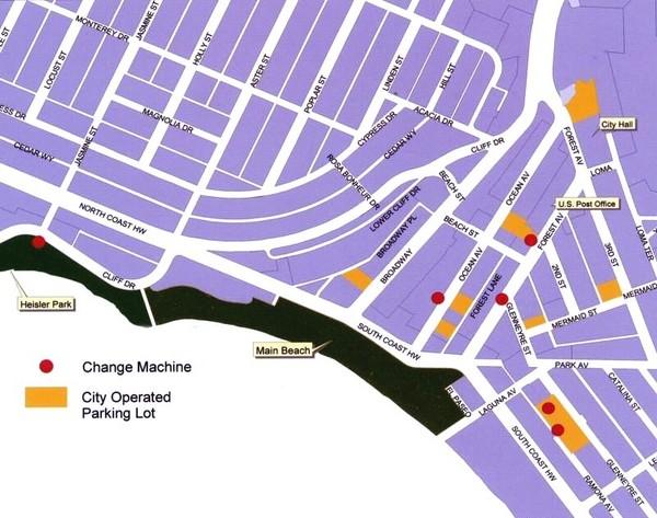 Downtown Laguna Beach Tourist Map Laguna Beach mappery