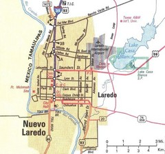 Downtown Laredo Map