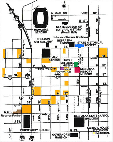 Downtown Lincoln Nebraska Map - Lincoln Nebraska • mappery