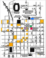 Downtown Lincoln, Nebraska Map