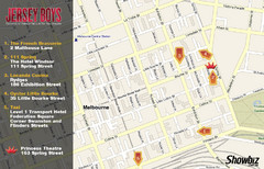 Downtown Melbourne Restaurant Map