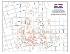 Downtown Midland Map