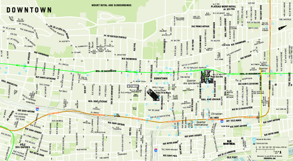 Metro Map With Streets.Images And Places Pictures And Info Montreal Metro Map With Streets