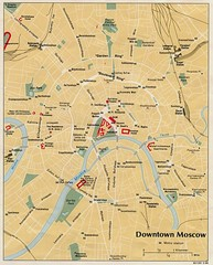 Downtown Moscow Tourist Map