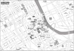 Downtown Nashville, TN Tourist Map