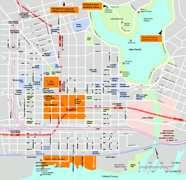 Downtown Oakland California Map oakland ca mappery – San Francisco Tourist Map Pdf