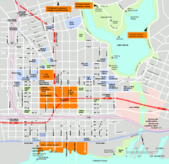 Downtown Oakland, California Map