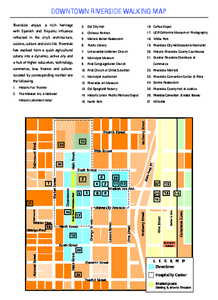 Downtown Riverside, California Map