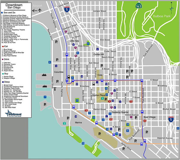 San Diego maps mappery – Tourist Map San Diego