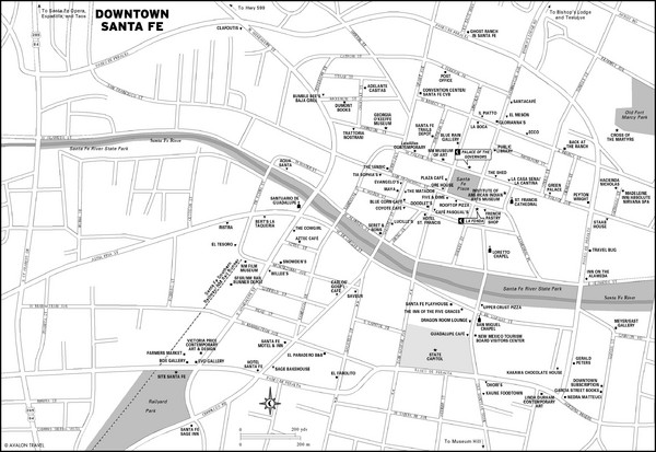 Downtown Santa Fe New Mexico Map Santa Fe New Mexico mappery – Santa Fe Tourist Map