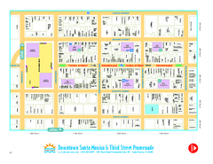 Downtown Santa Monica walking map