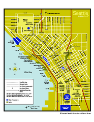 Downtown Seattle, Washington Map