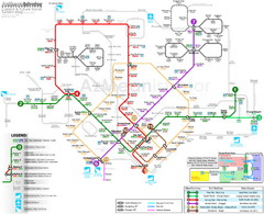 Downtown Singapore Transit Map