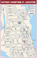 Downtown St. Augustine, Florida Map