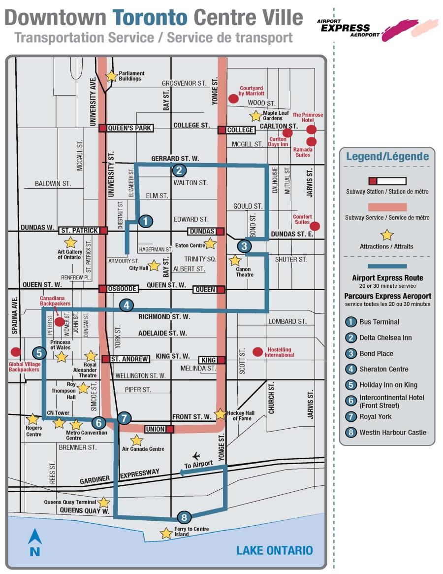 Downtown Toronto Tourist Map Toronto mappery