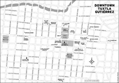 Downtown Tuxtla Gutierrez Map