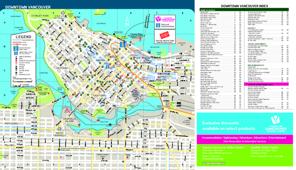 Vancouver Tourist Map Vancouver BC Canada mappery – Vancouver Tourist Map