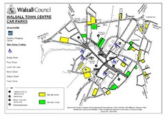 Downtown Walsall Parking Map