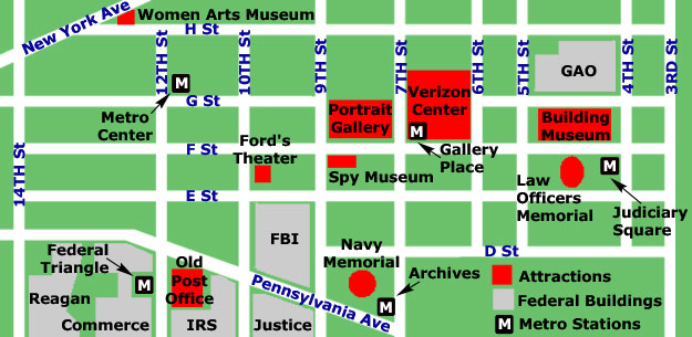Washington dc Map Pdf Washington dc Downtown Map