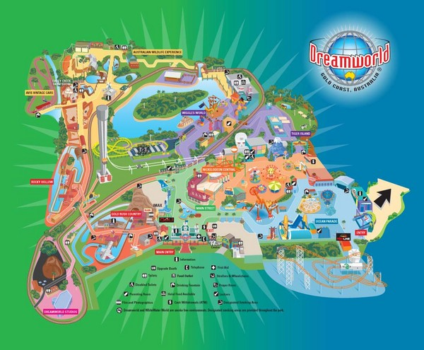 Dreamworld Visitor Map