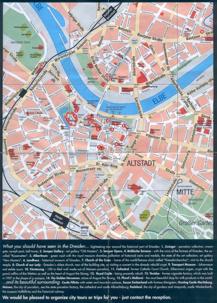 Dresden Tourist Map Dresden Germany mappery