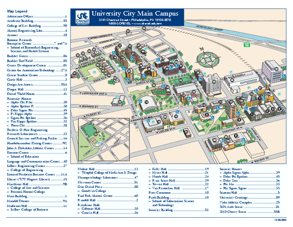 Drexel University Map   Philadelphia Pennsylvania • mappery