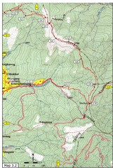 Droley Gonpa trail, Thimphu Map