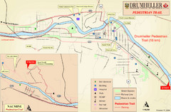 Drumheller Pedestrian Trail Map