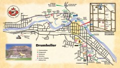 Drumheller Tourist Map