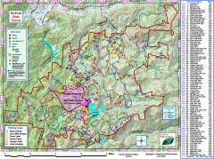 DuPont State Forest Trail map