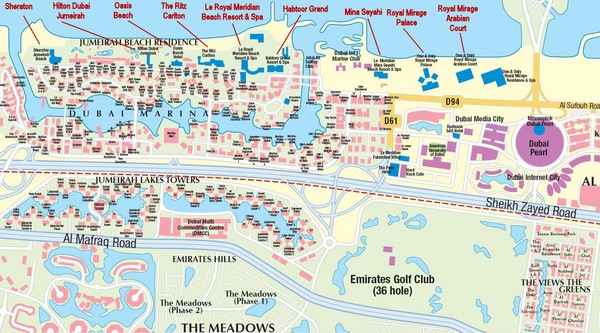 Dubai Beach Hotel Map