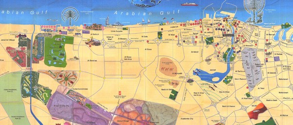 Dubai City Tourist Map