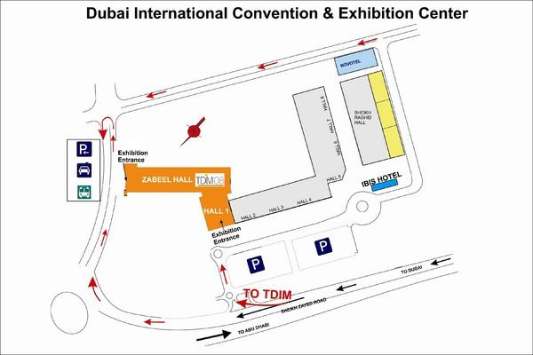 Location Map of Dubai International Convention Centre