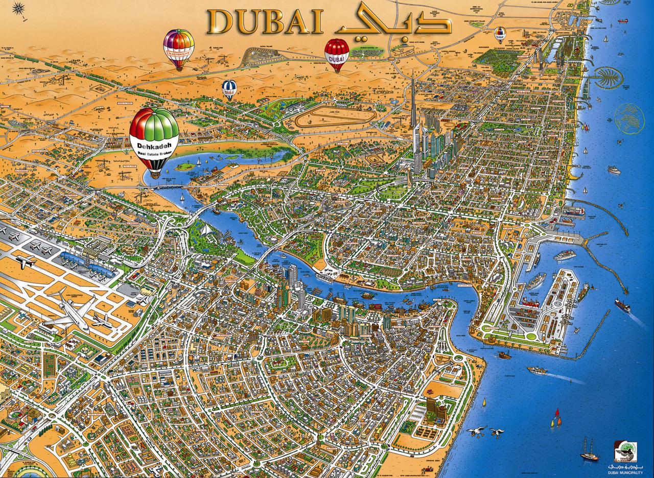Dubai Tourist Map Dubai mappery
