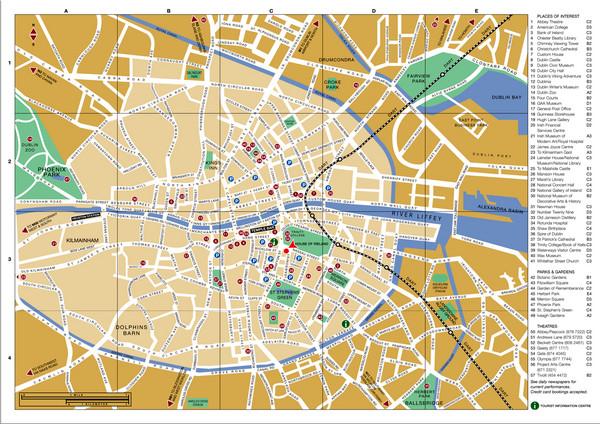 Dublin Ireland Map Of City.Dublin Ireland City Map Dublin Ireland Mappery