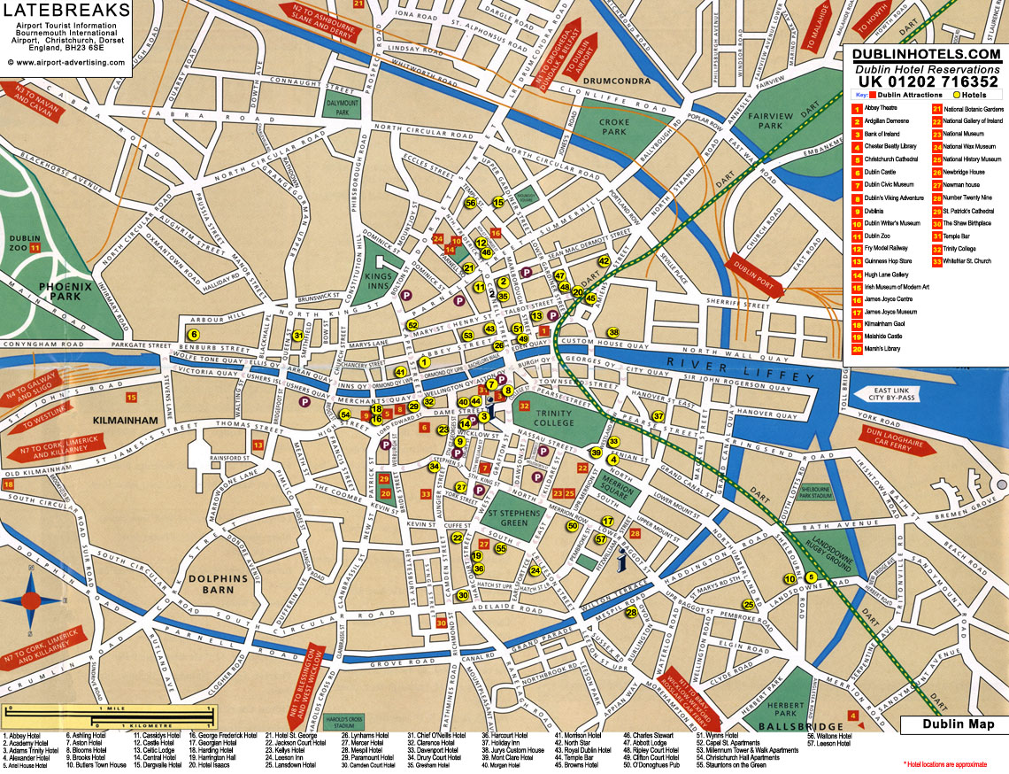 Dublin Tourist Map Dublin Ireland mappery – Tourist Map Dublin