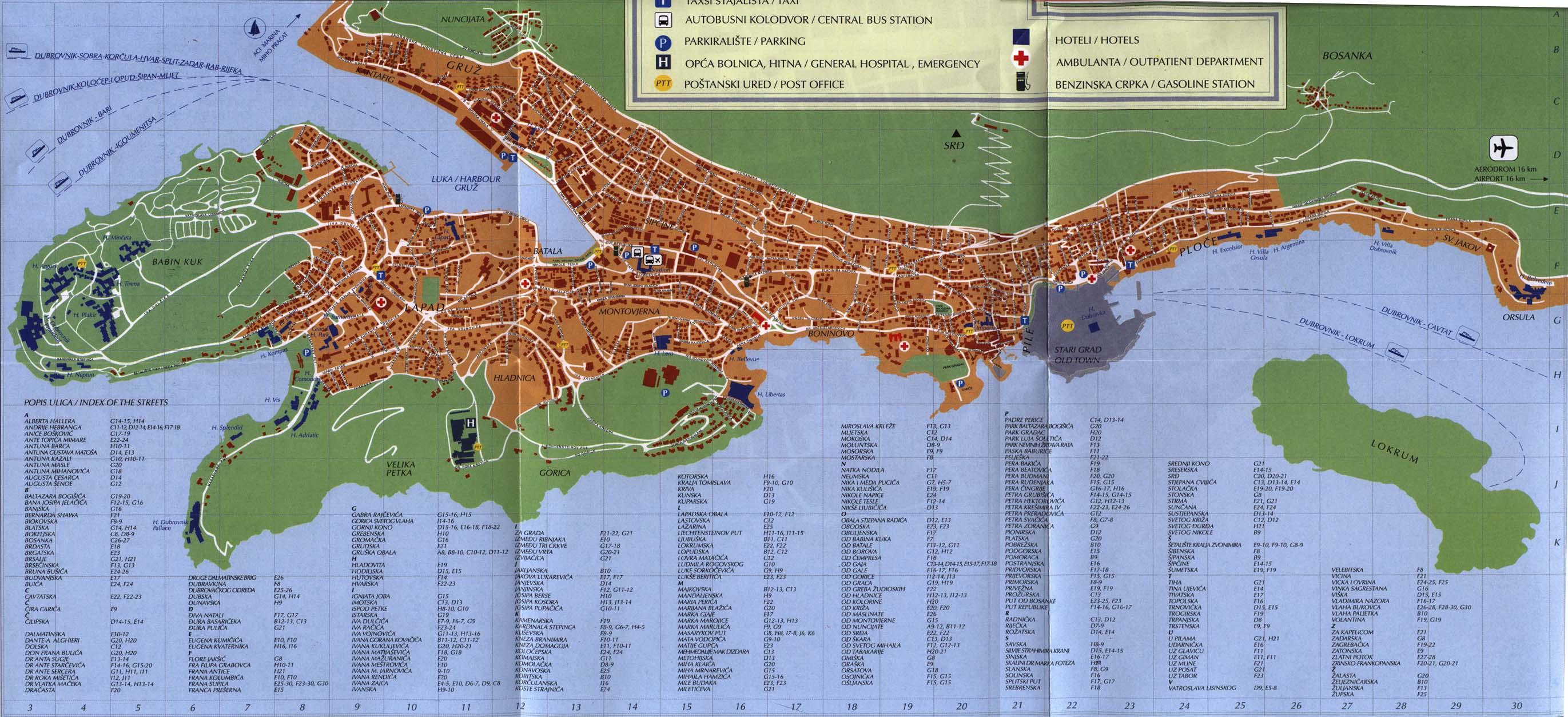 Dubrovnik city map dubrovnik croatia mappery gumiabroncs Images