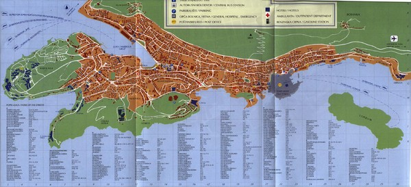 Dubrovnik City Map