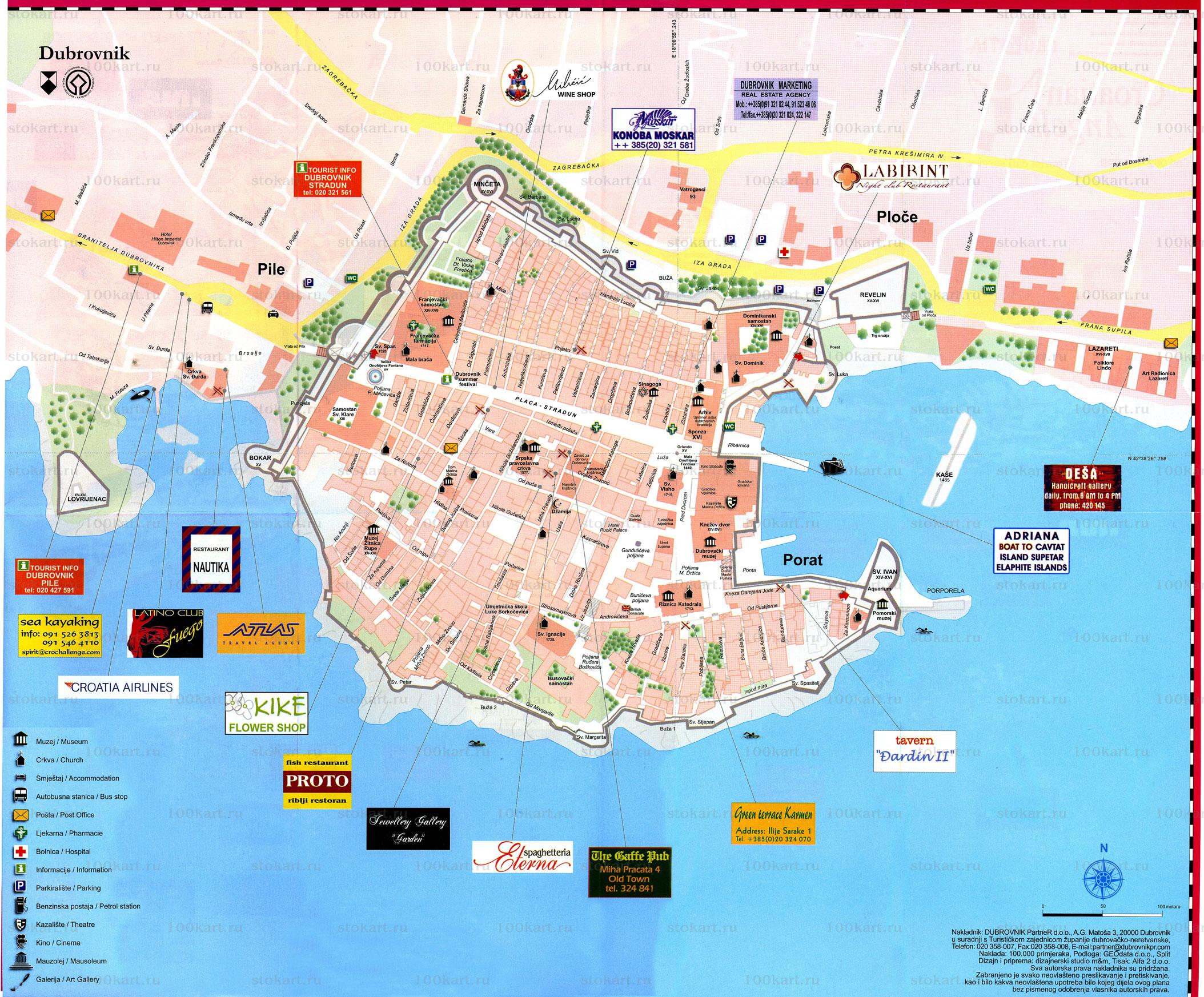 Dubrovnik Map Dubrovnik Mappery