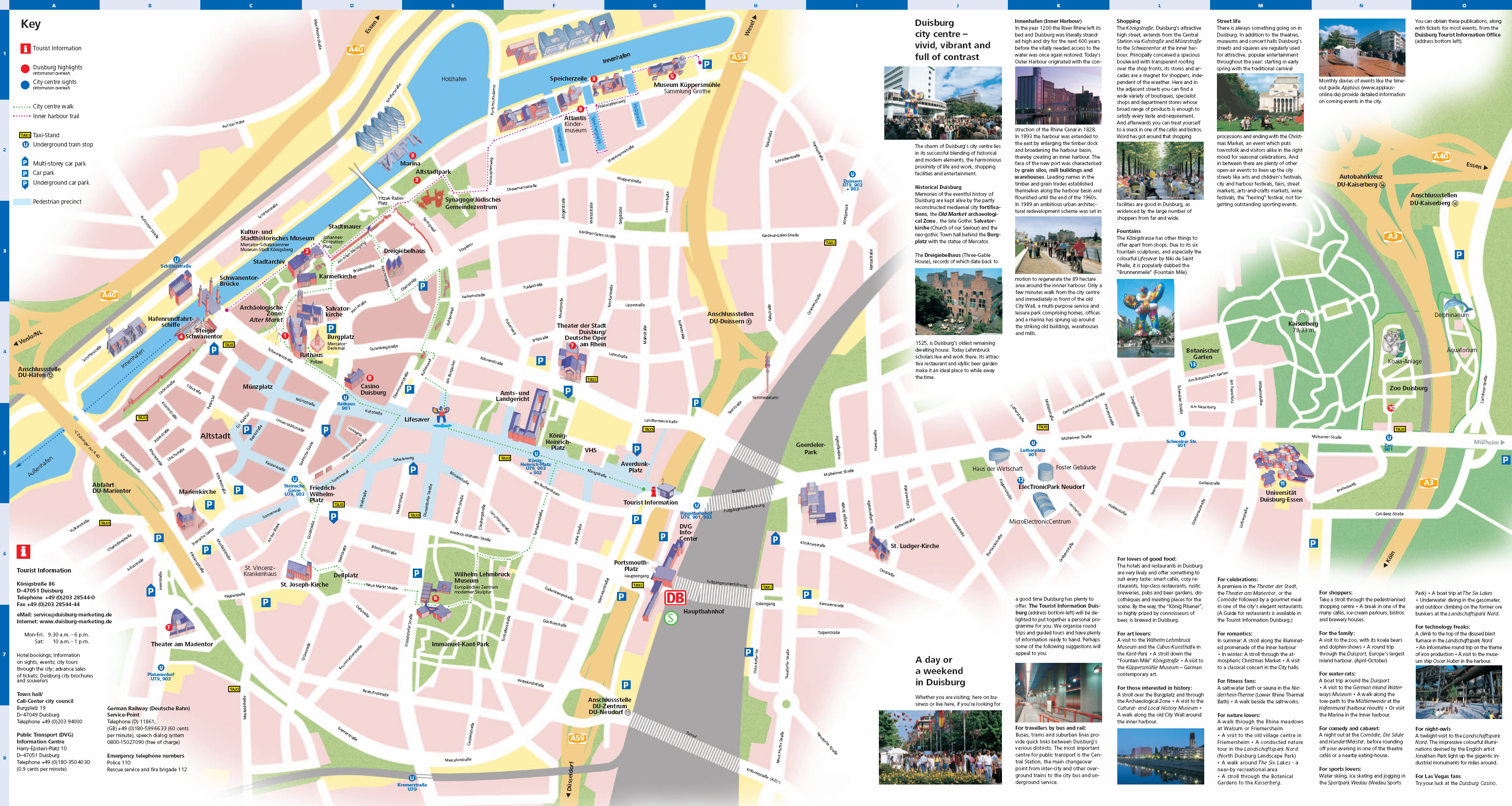Duisburg Tourist Map Duisburg Germany mappery