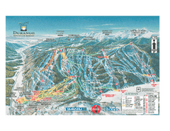 Durango Mountain Ski Trail Map