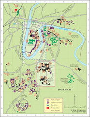 Durham Tourist Map