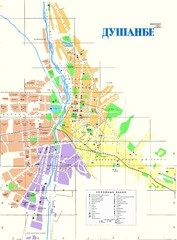 Dushanbe City Map