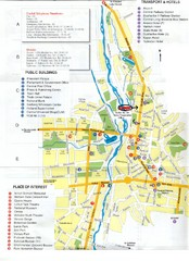 Dushanbe Tourist Map