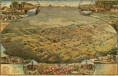Dyer's Birdseye view of Phoenix (1885) Map
