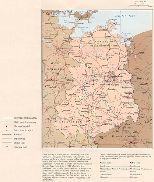 E Germany Map