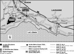 EPFL Lausanne Switzerland Map