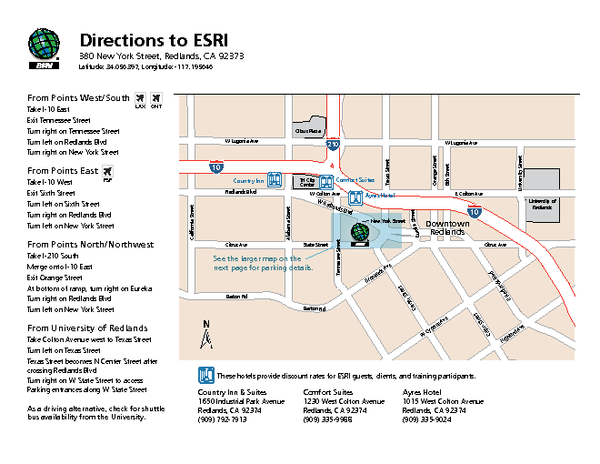 ESRI Campus Map   380 New York St Redlands CA 92373 • mappery