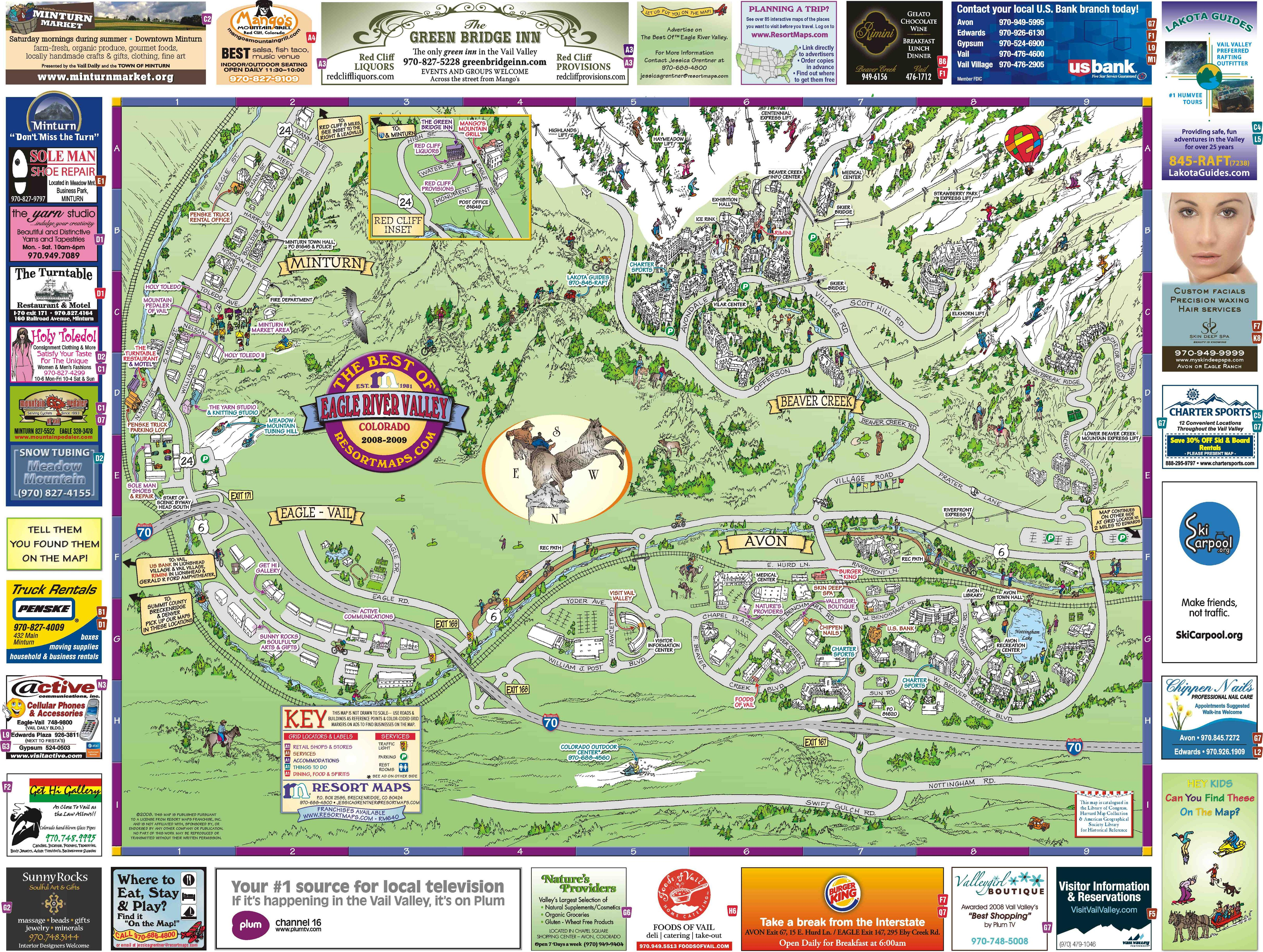 Eagle River Valley Resort Maps Map Avon Co Mappery
